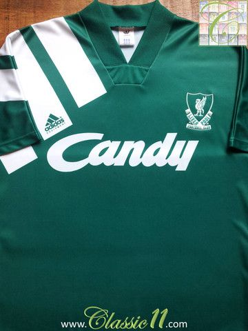 92767a55a2d Relive Liverpool s 1991 1992 season with this vintage Adidas away football  shirt.