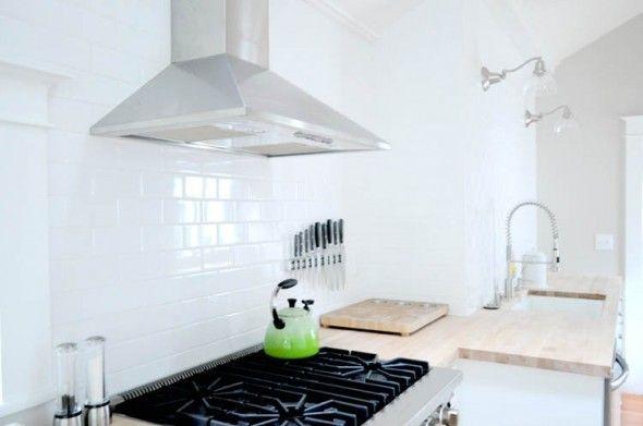 Białe Kafelki W Kuchni Kitchen Kuchnia