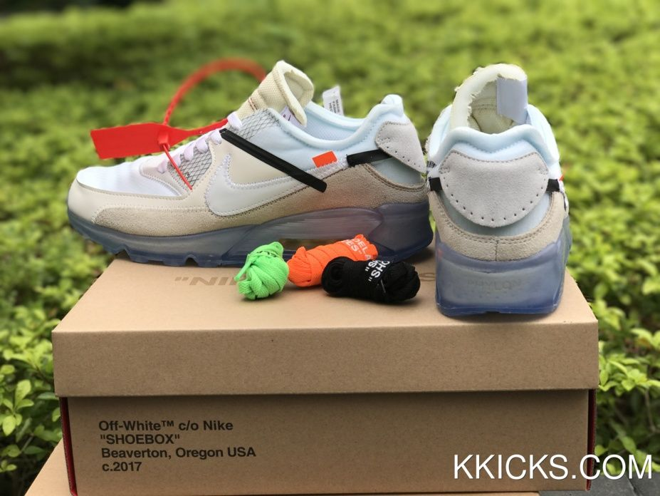 Buy Men's OFF WHITE x Nike Air Max 90 Ice 10X AA7293 100 Sneakers