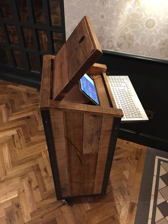 industrial furniture wheels. Industrial Style Waiters Station On Wheels Furniture