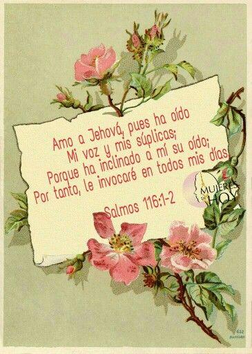 Amo a Jehová, pues ha oído mi voz y mis súplicas...