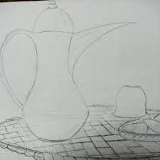 نتيجة بحث الصور عن رسم دلة بالرصاص Drawings Watercolor Art Art