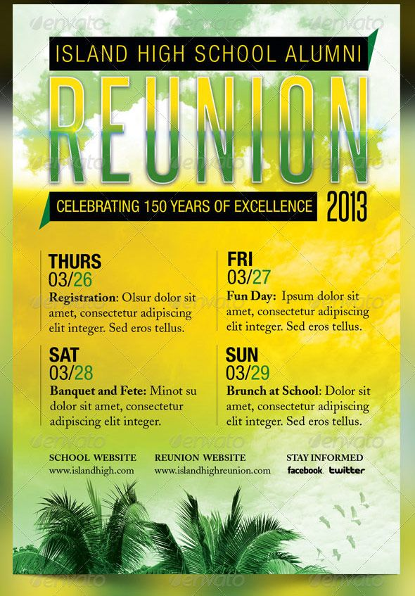 Pin by John Bautista on Event Poster Board Pinterest School - class reunion invitation template