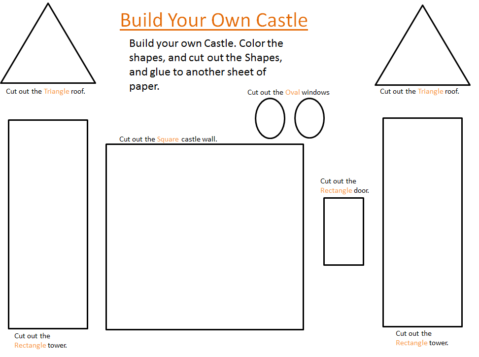 castle cut out template - the country cheapskate build your own castle free