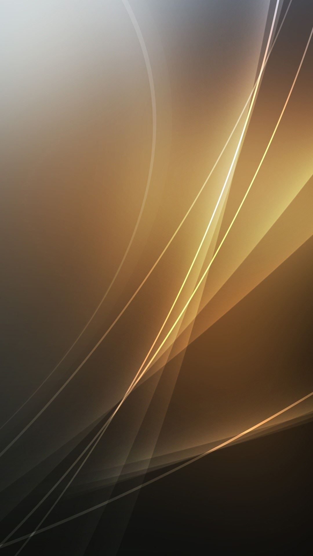abstract golden light lines android wallpaper