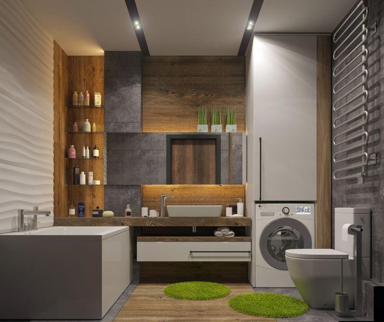 salle de bain minimaliste et rangement gain de place pour ambiance