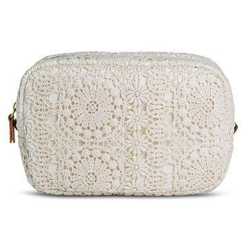 Women's Crochet Coin Purse Handbag with Zipper Closure Ivory - Mossimo Supply Co.™