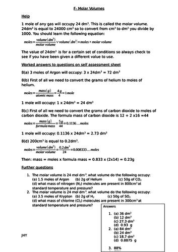 Quantitative Chemistry Worksheets Chemistry Worksheets Chemistry Gcse Chemistry