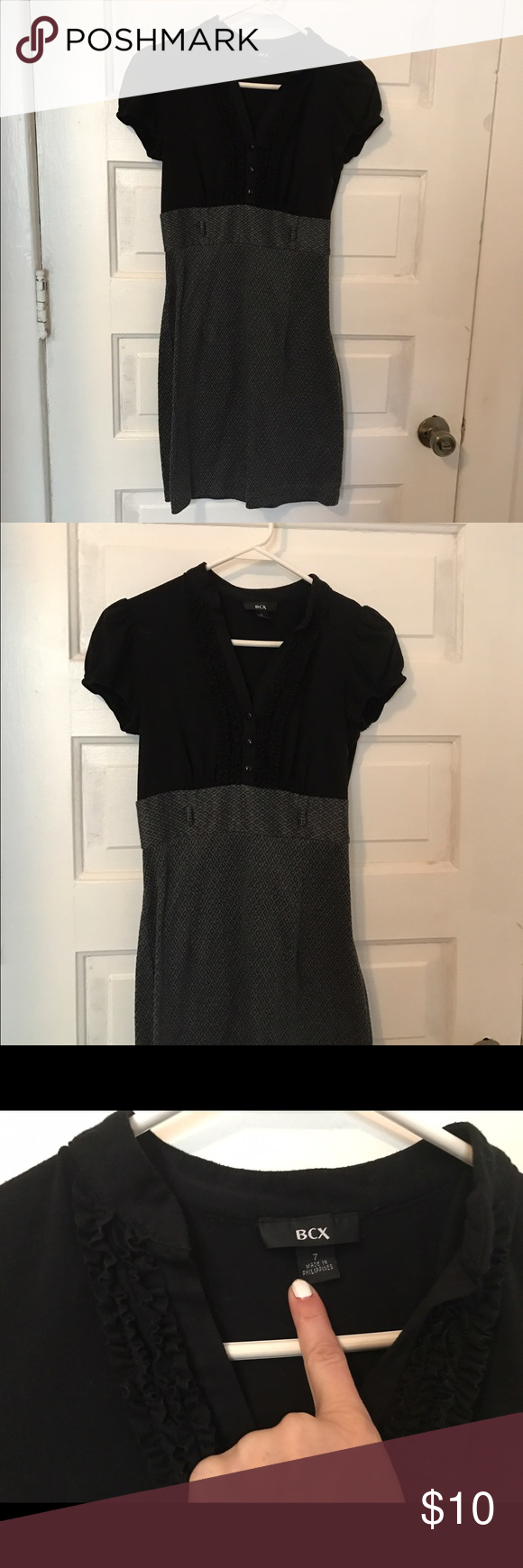 5 items for $35: Black professional dress Women's black professional dress. Grey and black colors. Knee length. Could be worn to work or out with friends.  Size 7 but a small 7. BCX Dresses Mini