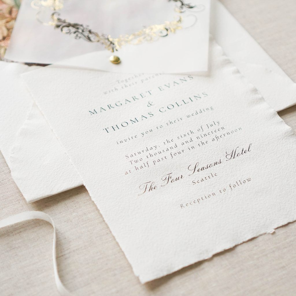 Custom Invitations Wedding Invitation Fine Art Wedding Inspirati Leather Wedding Invitations Letterpress Wedding Invitations Personalised Wedding Invitations