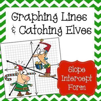 Graphing Slope Intercept Form Lines - Christmas Algebra Activity ...