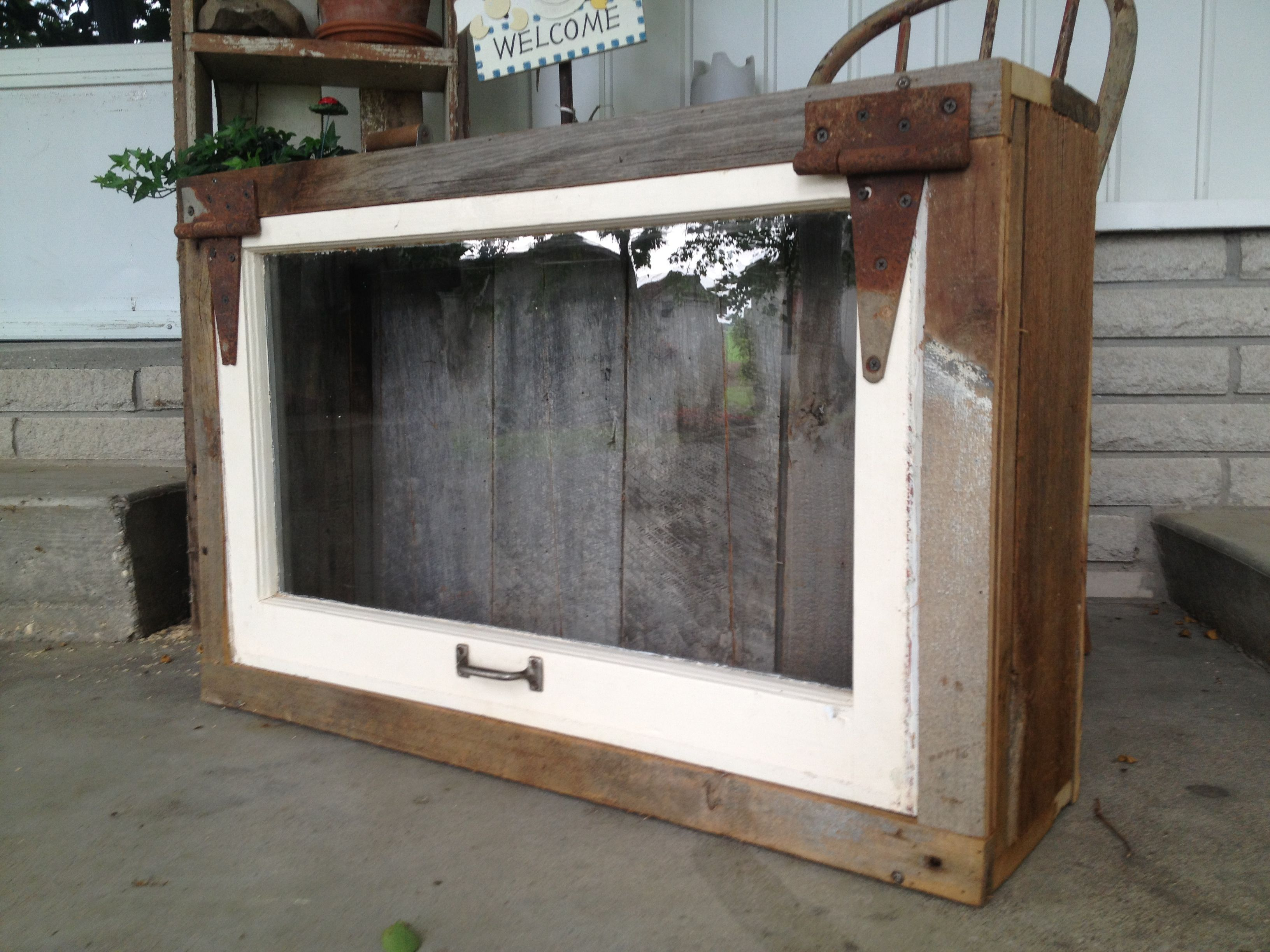 Shadow Box Made From Barn Wood And Old Window Projects I
