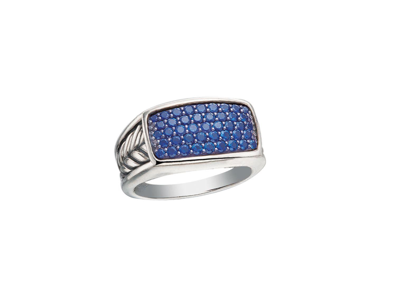 David Yurman blue sapphire ring.