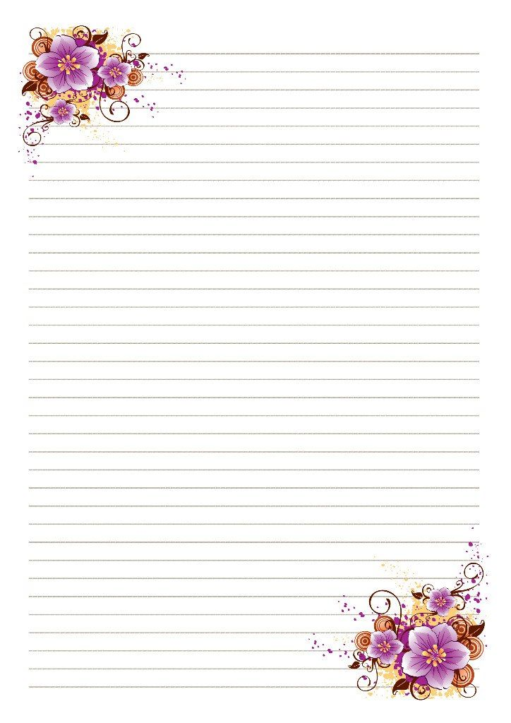 Stationery Paper stationery, free printable writing paper - diary paper printable