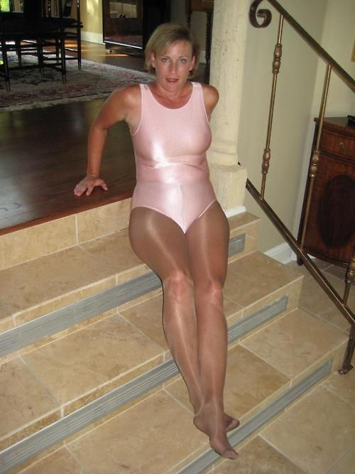 Help you? mature in leotard