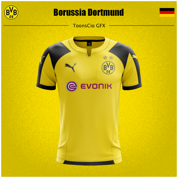 Borussia Dortmund Sports Tshirt Designs Jersey Design Soccer Jersey