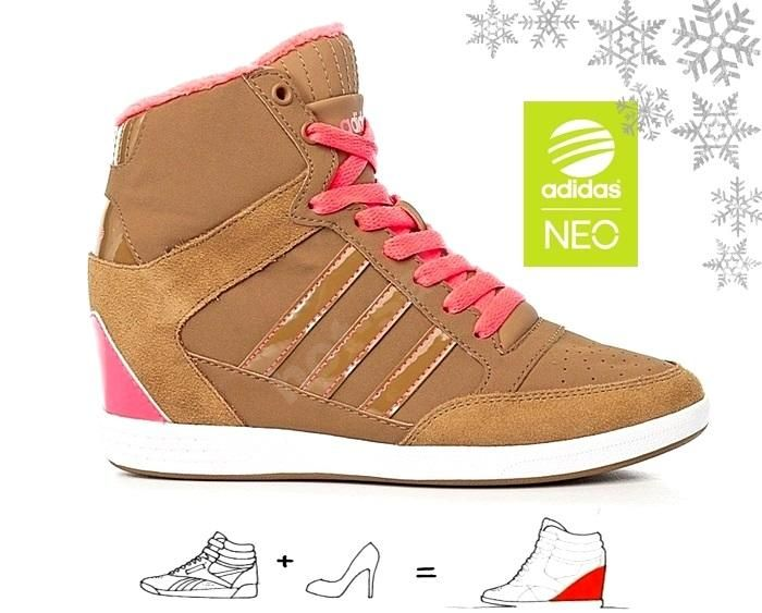 Buty Damskie Adidas Super Wedge F7641 Koturn Botki 6034234995 Oficjalne Archiwum Allegro Top Sneakers Shoes High Top Sneakers