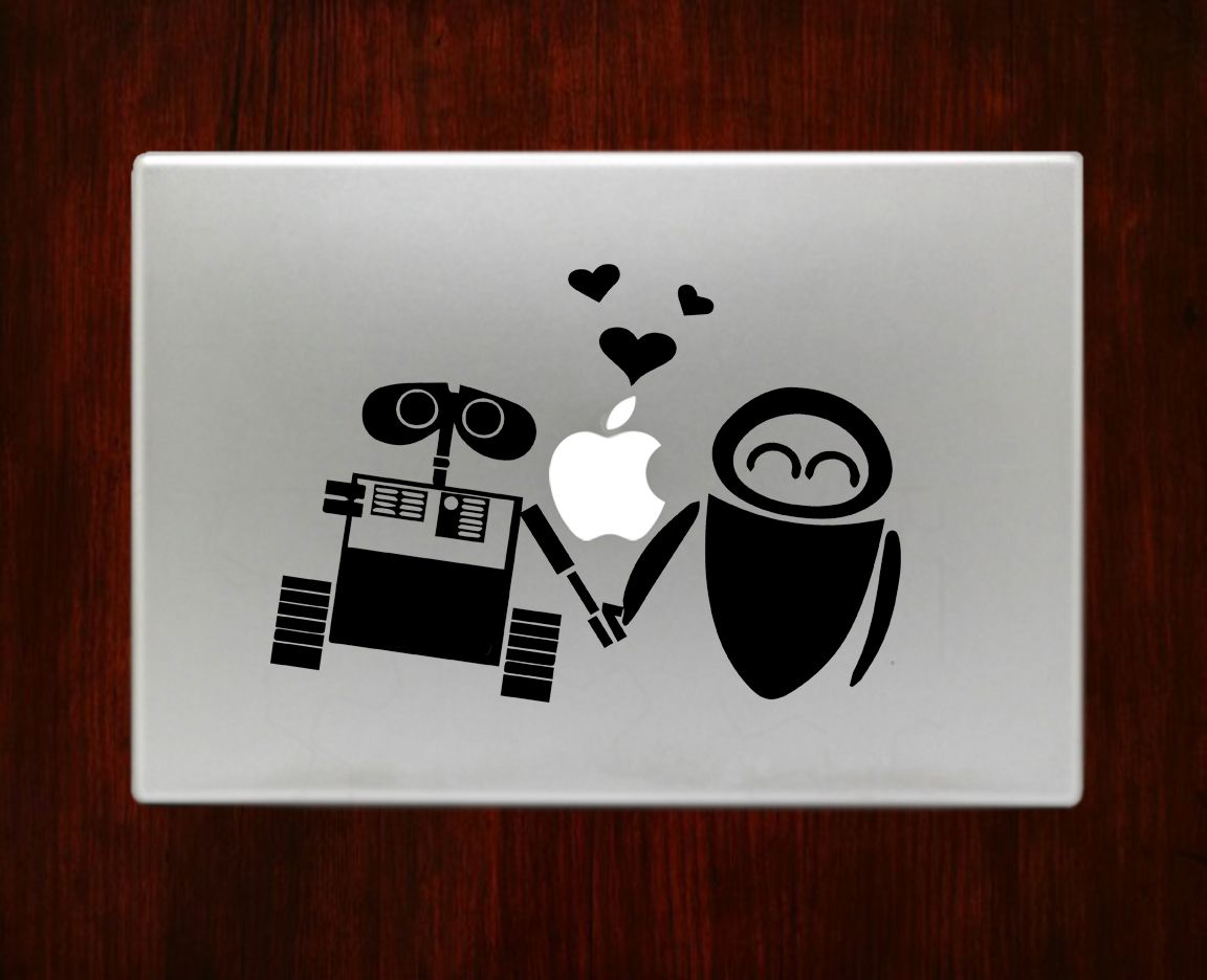 Banksy panda with guns sticker truck stickers logos and vinyl - Wall E And Eve Disney Decal Sticker Vinyl For Macbook Pro Air 13