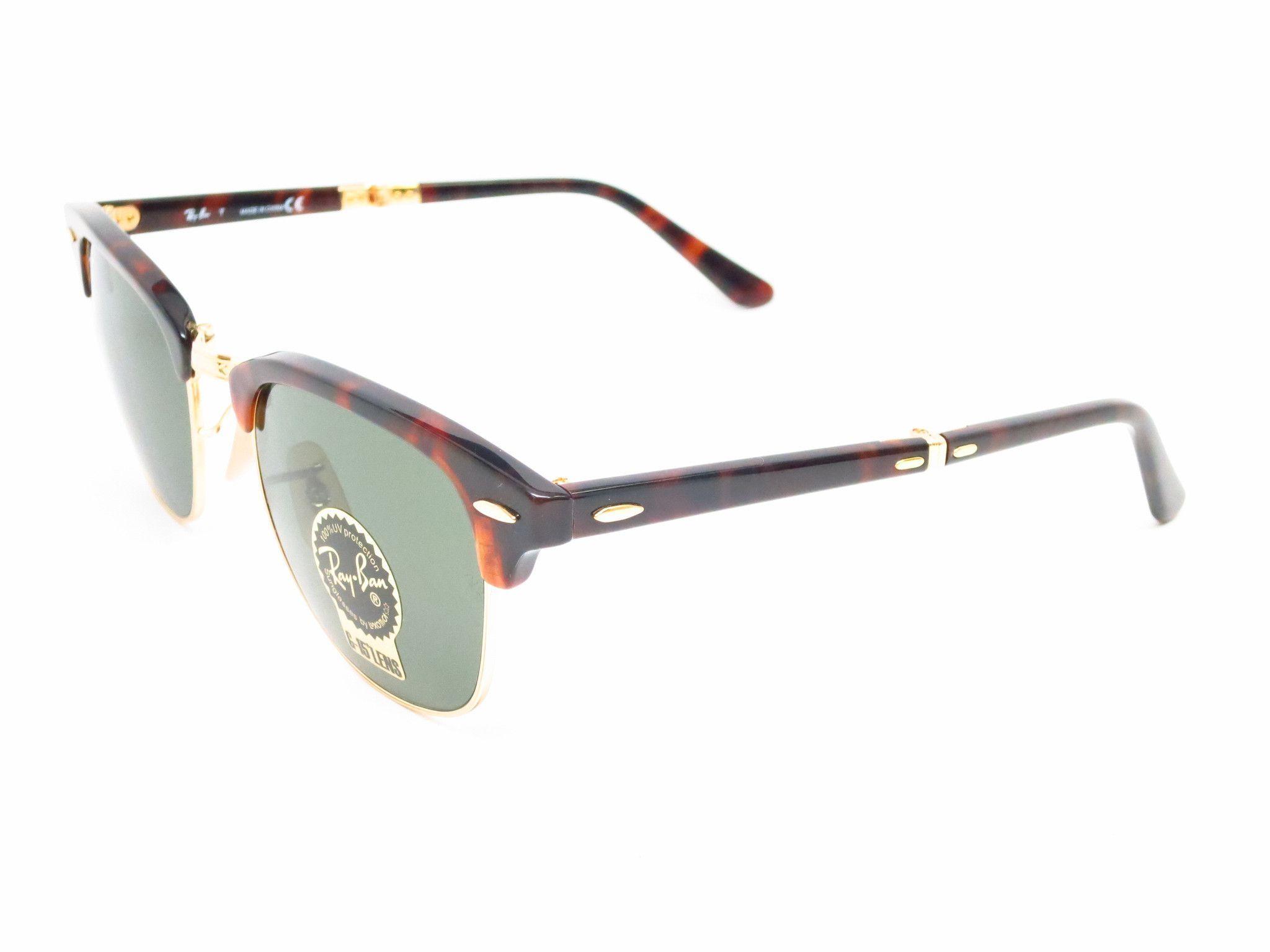 7ae7219cc6c Ray-Ban RB 2176 Clubmaster Folding 990 Red Havana Sunglasses