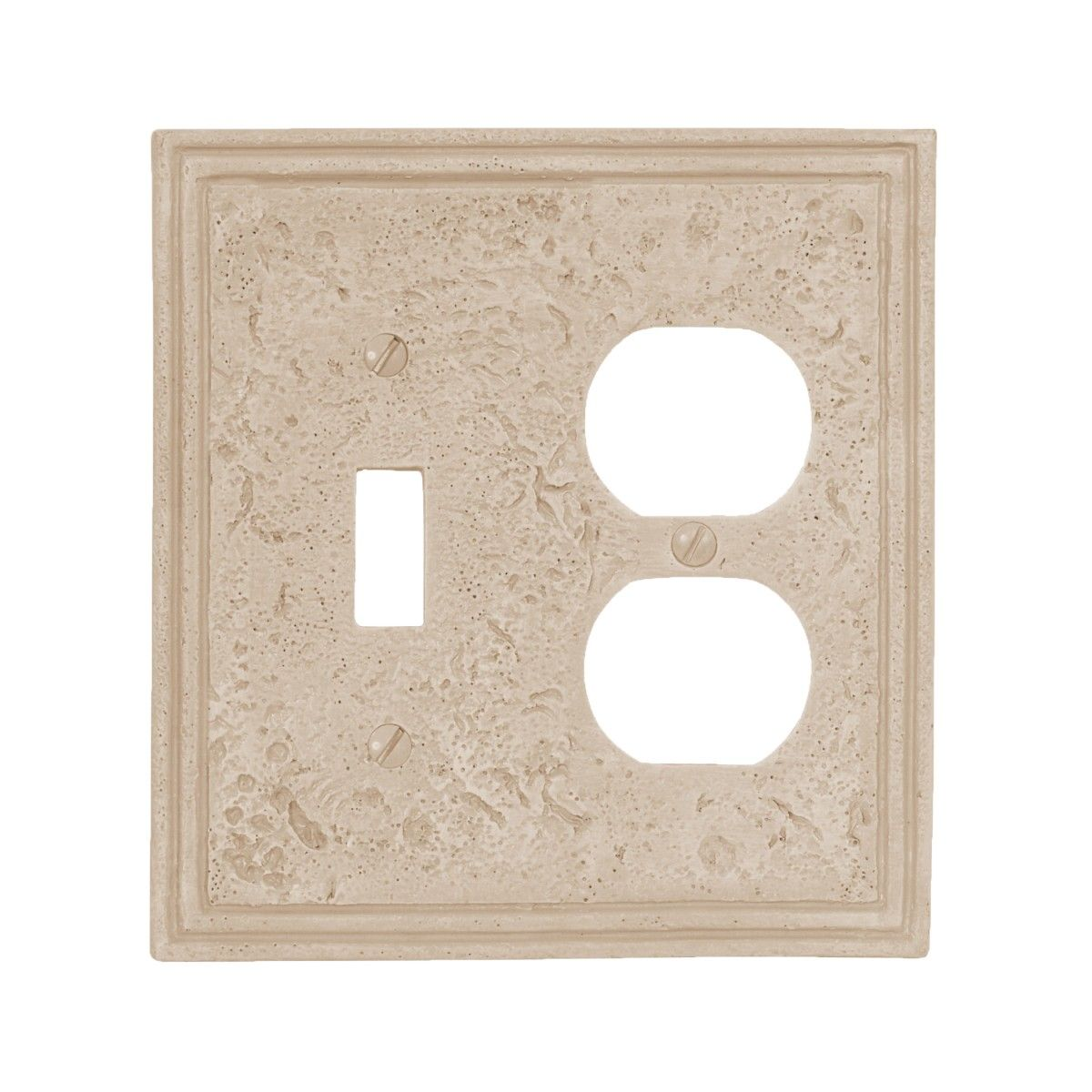 Amerelle Wall Plates Amerelle 8349Tda Faux Stone Travertine Combo Wall Plate Outlet Cover