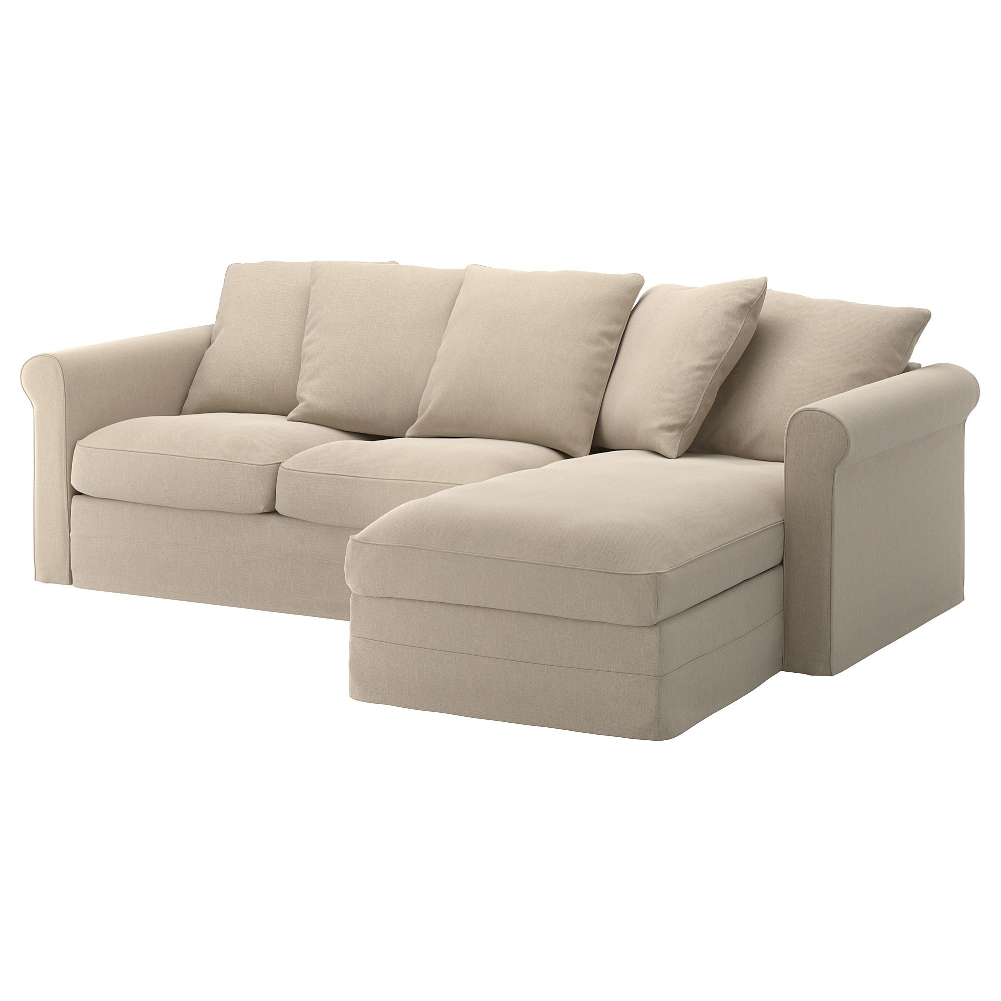 Gronlid 3er Sofa Mit Recamiere Sporda Naturfarben Ikea