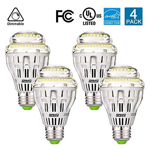 Sansi 150w Equivalent A19 Ceramic Led Light Bulb 2000 Lumens 5000k Daylight With Nichia Chips Dimmable Energy Star Fcc Led Light Bulb Energy Star Light Bulb