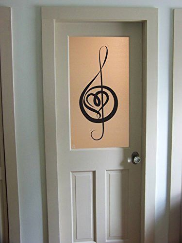 Treble Clef And Cross Music Notes Vinyl Wall Decal Sticker Graphic - Vinyl wall decals application instructions
