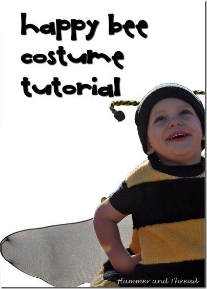 Tutorial disfressa d'abella.  Happy bee costume tutorial.