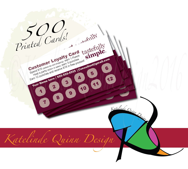 Tastefully Simple consultant 500 printed by KatelindeQuinnDesign ...