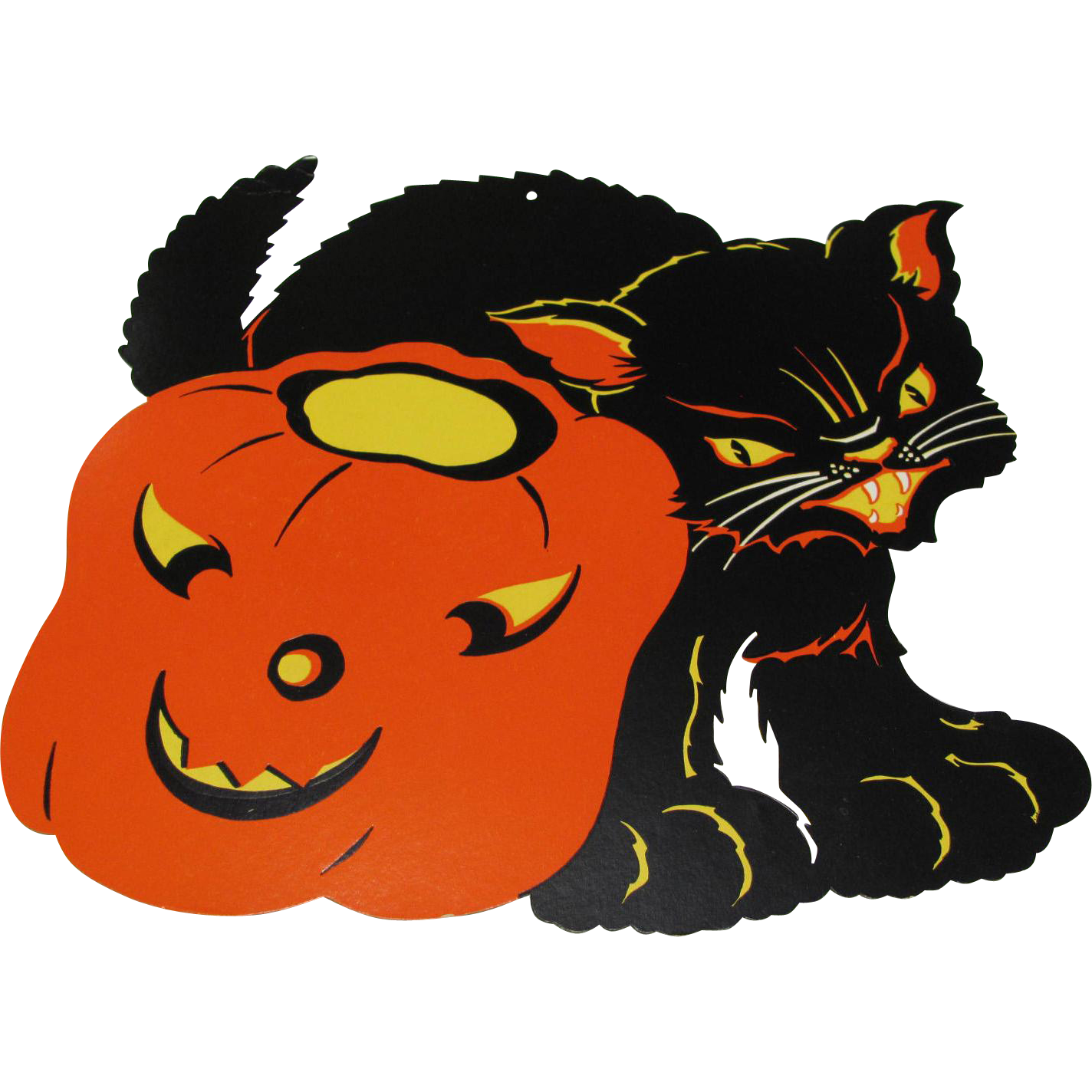 halloween decoration black cat jol found at wwwrubylanecom rubylanecom
