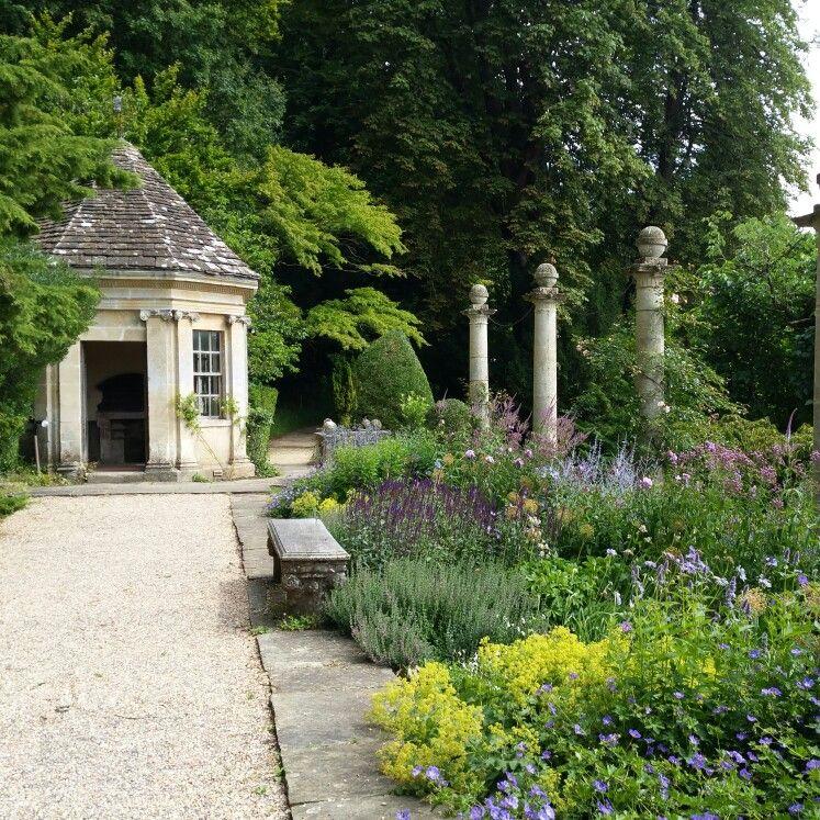 Garden House And Summer Flowers At Iford Manor Wiltshire Harold Peto Italian Inspired Garden Alchemilla Perovskia Blue Spire Terrace Garden English Garden