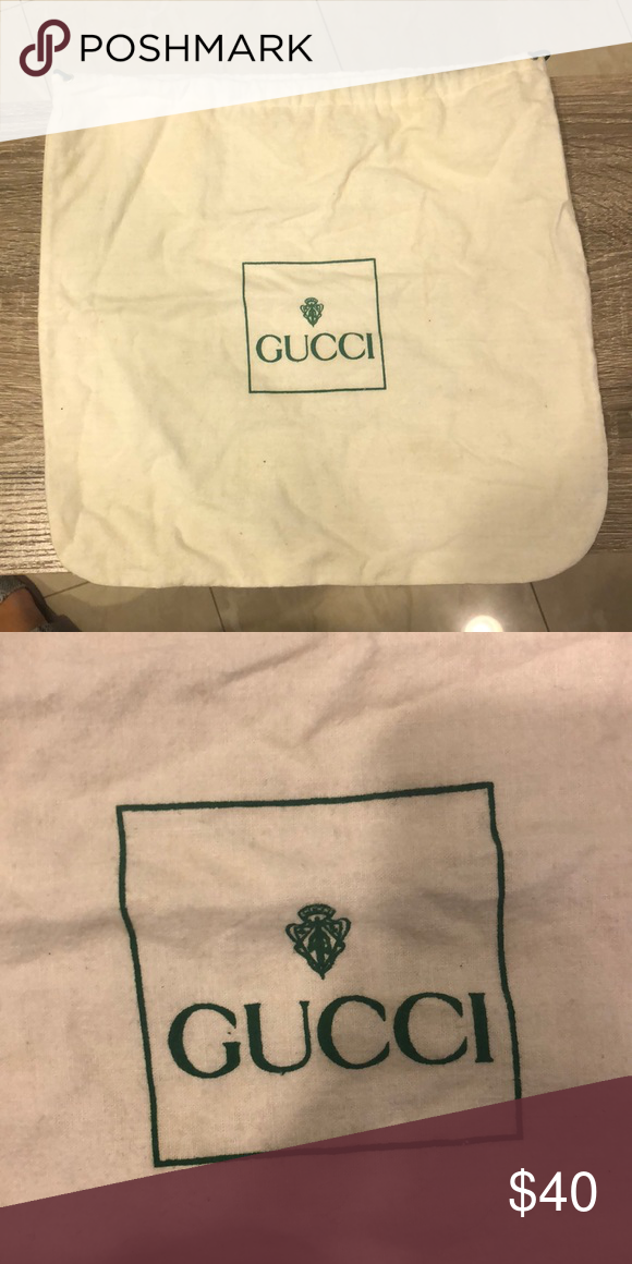 4e1c262b4c6 Vintage Gucci Dustbag Come snatch up this Vintage Gucci dust bag! Gucci Bags  Cosmetic Bags   Cases