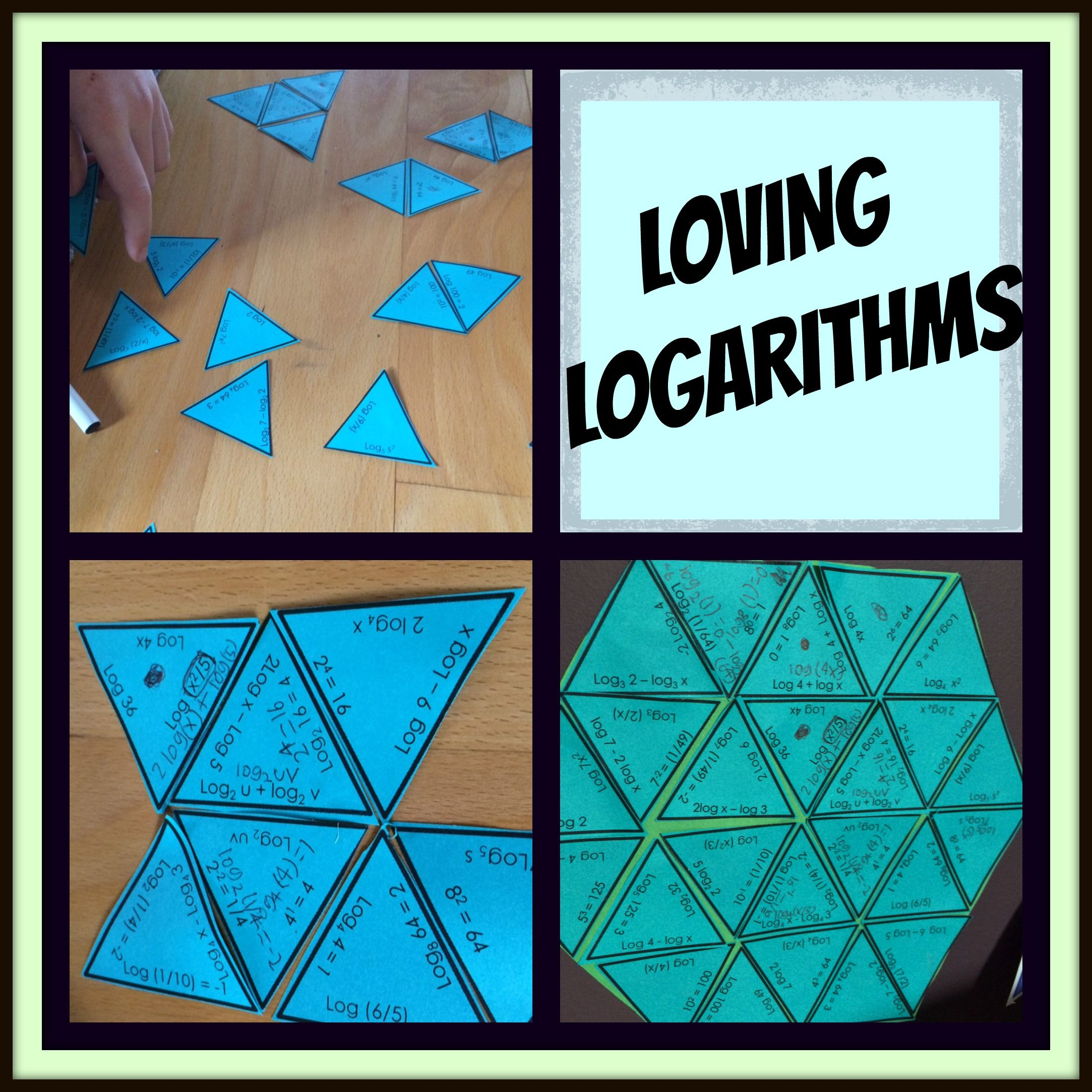 Expanding And Condensing Logarithms Puzzle Activity