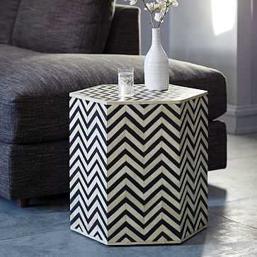 Bone Inlaid Faceted Side Table Westelm Table Furniture