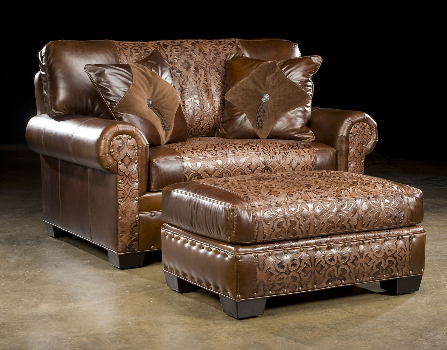 Curved sofa from Paul Robert Austin Hill Country Furniture