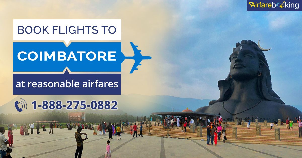 Cheap Travel Deals to #Coimbatore!!   Enjoy the lowest airfare Flights ticket offers to Coimbatore with #Airfarebooking. Book Now!   For more information call us at- 1-888-275-0882 (Toll-Free).  #CoimbatoreTravel #tour #travel #CheapFlightBooking #OnlineFlightBooking #TravelDeals