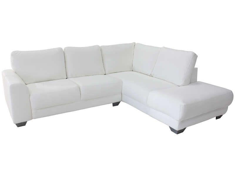 Canape D Angle Fixe 5 Places Tams Coloris Blanc Canape Conforama Canape Conforama Canape Angle Et Conforama