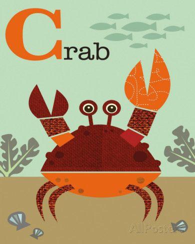Crab Art by Jenn Ski at AllPosters.com