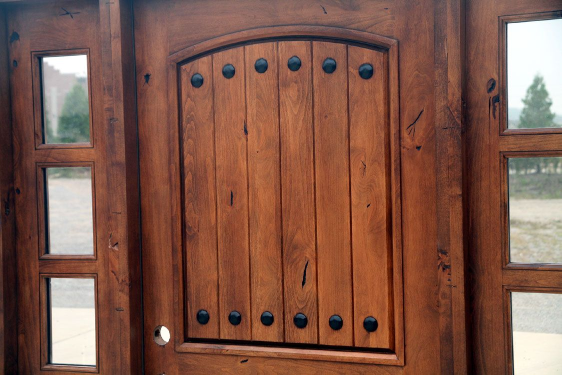 Rustic Tuscany Knotty Alder Entry Doors With Sidelightsautiful