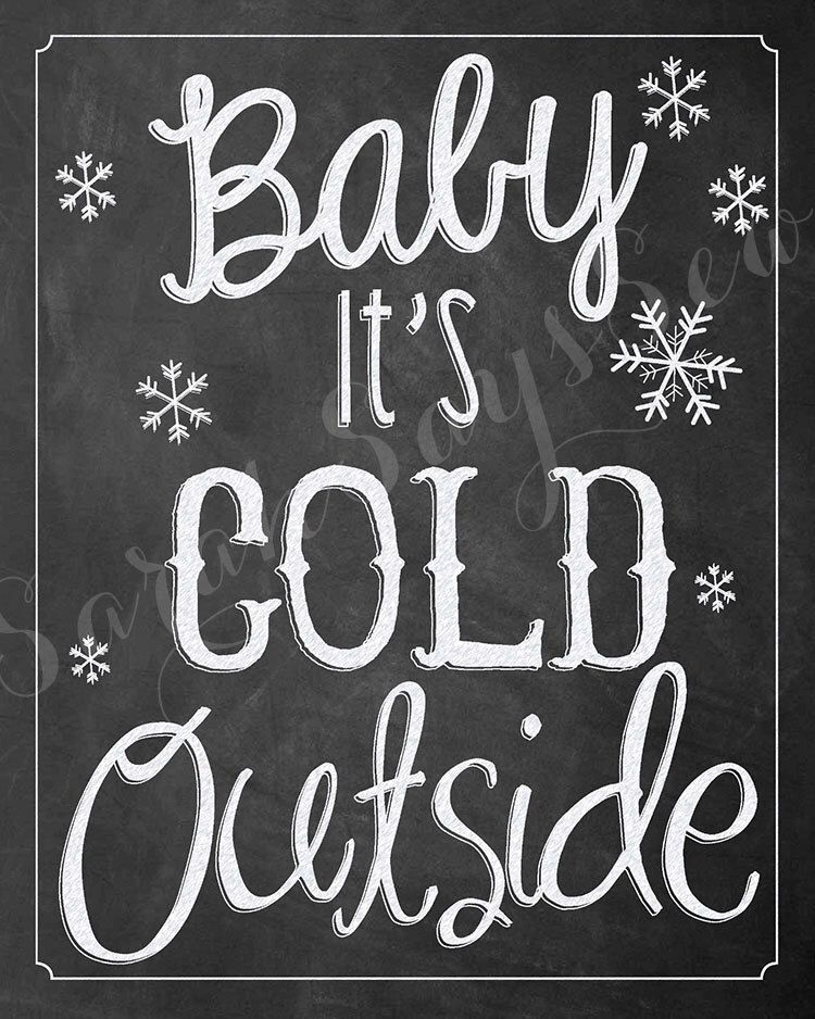 Baby It S Cold Outside Digital Download Christmas