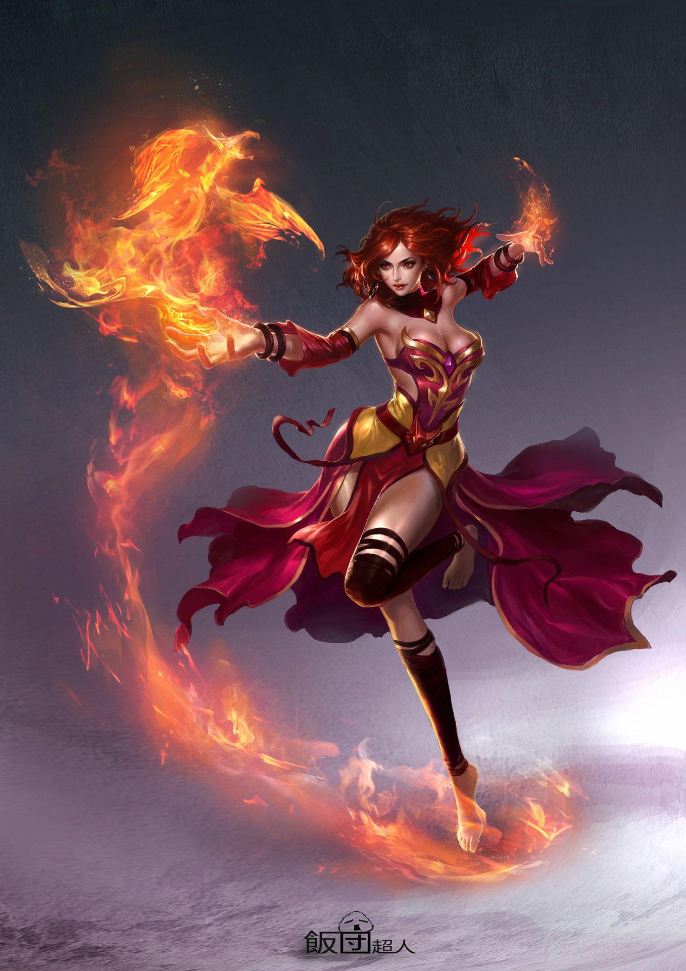 ArtStation - Lina, Weikang He   art ladies   Fantasy art ...