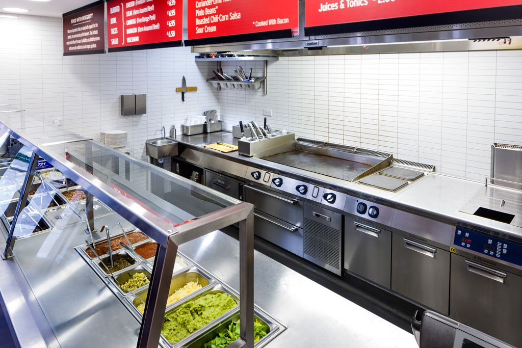 Chipotle kitchen design chipotle wardour street commercial kitchen design layout commercial Kitchen diner design tool
