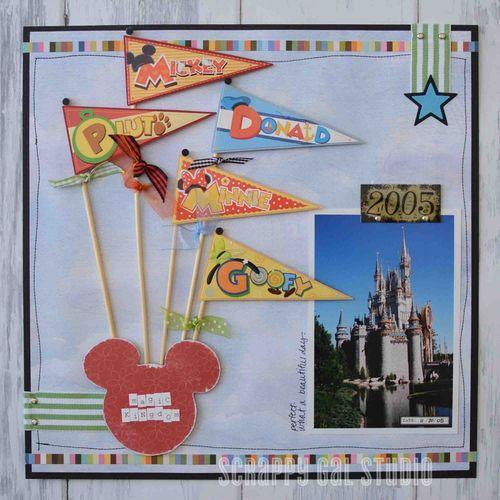12x12 Disney scrapbooking layout. #scrappygalstudio #scrapbooking #disney