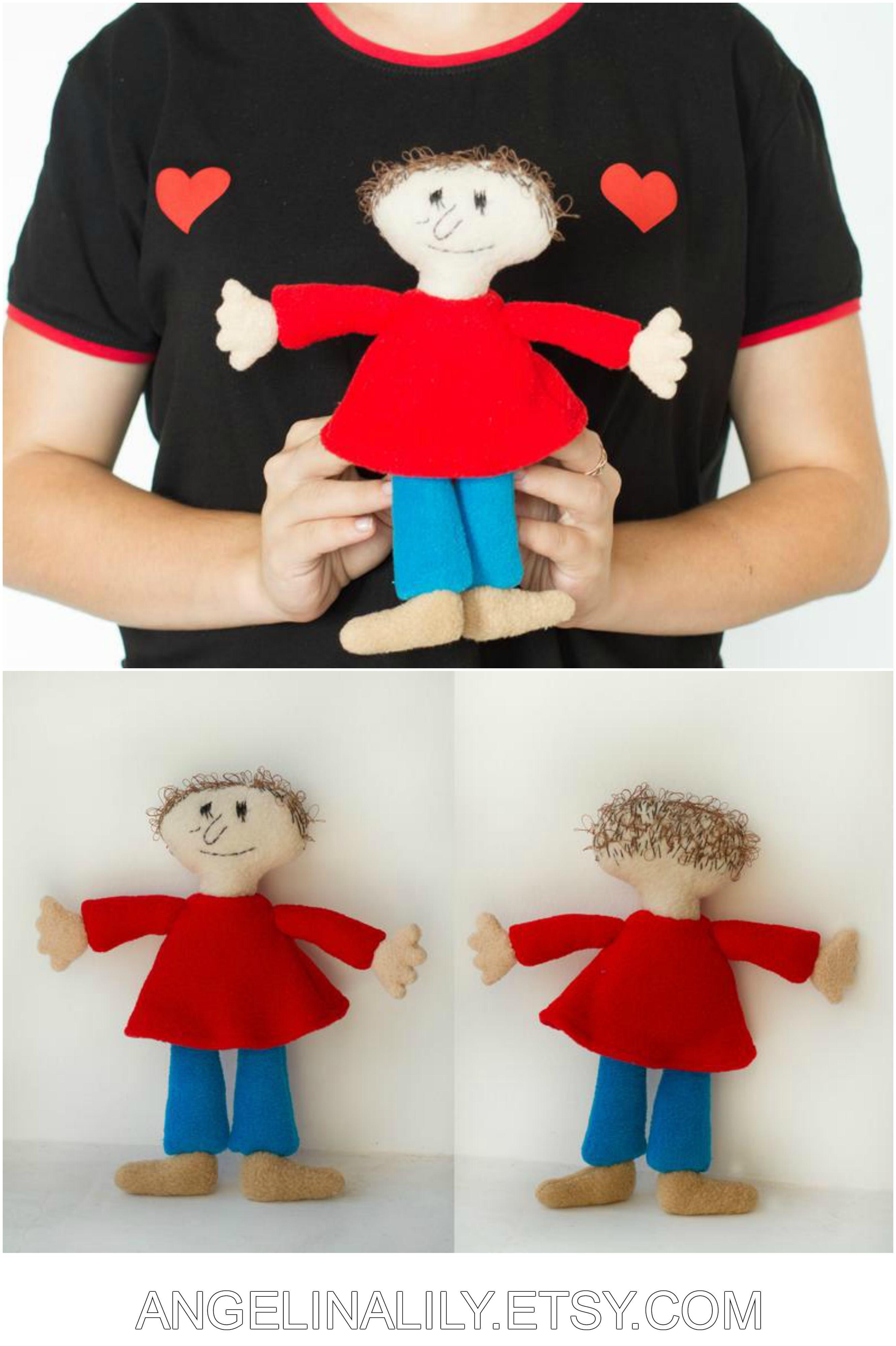 Playtime plush - handmade soft doll, 9 in high
