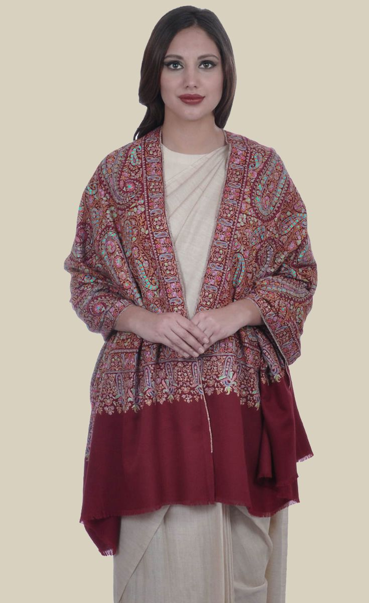 ... Kashmir-shawls-lime-green-wrap-hand-embroidery-floral- ...