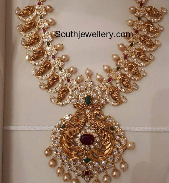 2160c87a4f93a Pin by Vasavi Kopparapu on gold gold gold | Jewelry, Indian necklace
