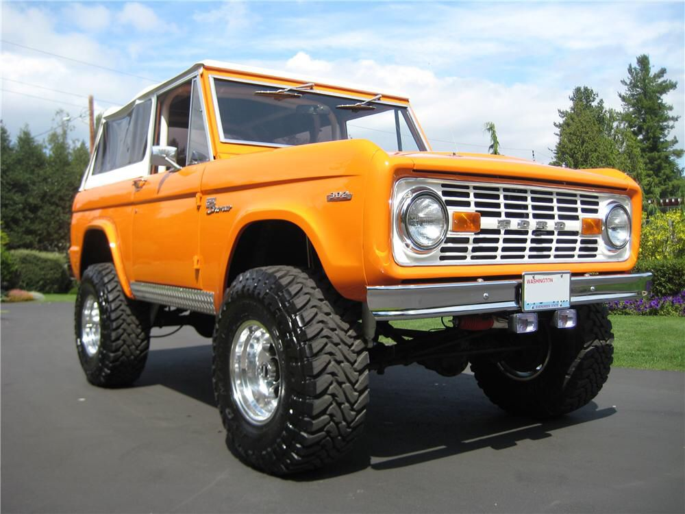 1969 Ford Bronco In Orange Julius Sold At Barrett Jackson Ford
