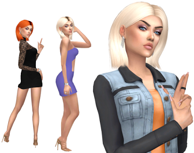 The Sims 4 by Kasia: Włosy