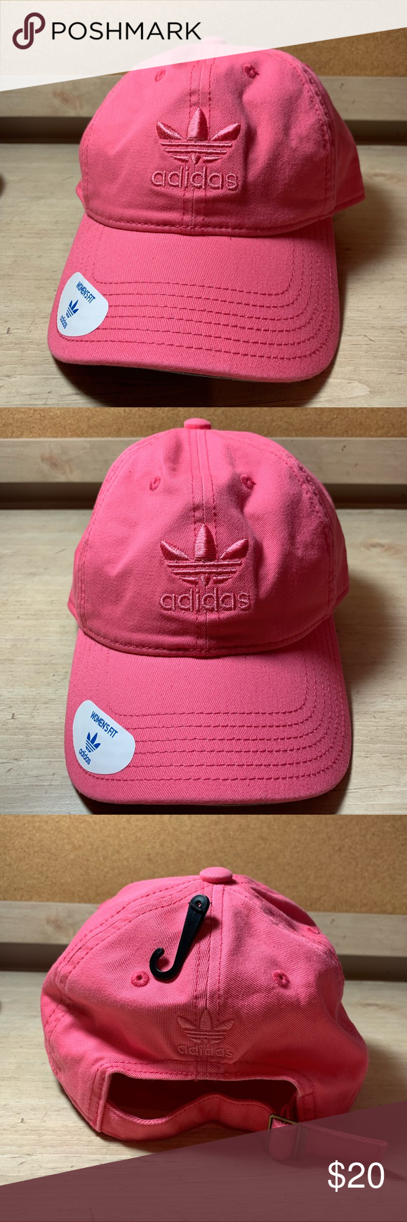 f8634640333 Adidas Relaxed Strapback Cap Hat Women s fit originals relaxed strapback pink  cap. In chalk pink