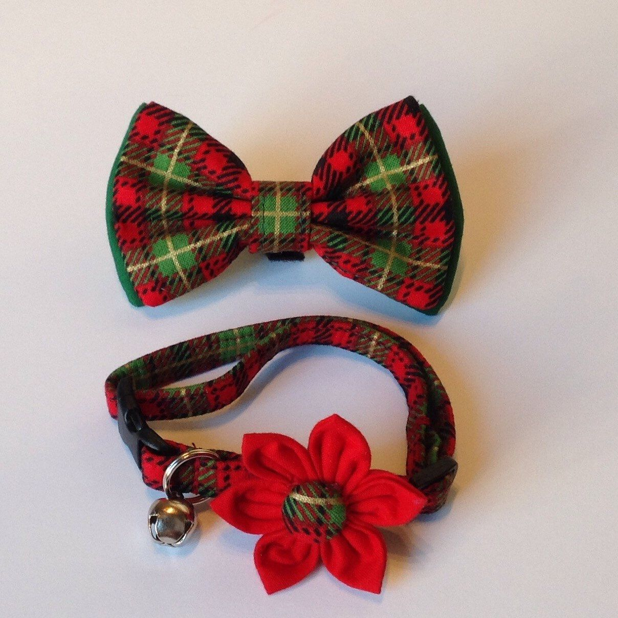 new adorable christmas cat collar flowerbow tie set available